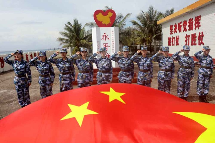 PLA Navy stations women on Nansha Islands for the 1st time
