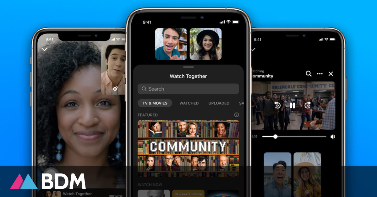 Facebook lance Watch Together sur Messenger