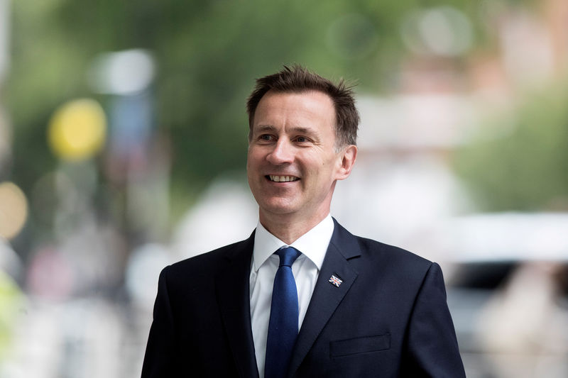 © Reuters. Jeremy Hunt, a leadership candidate for Britain