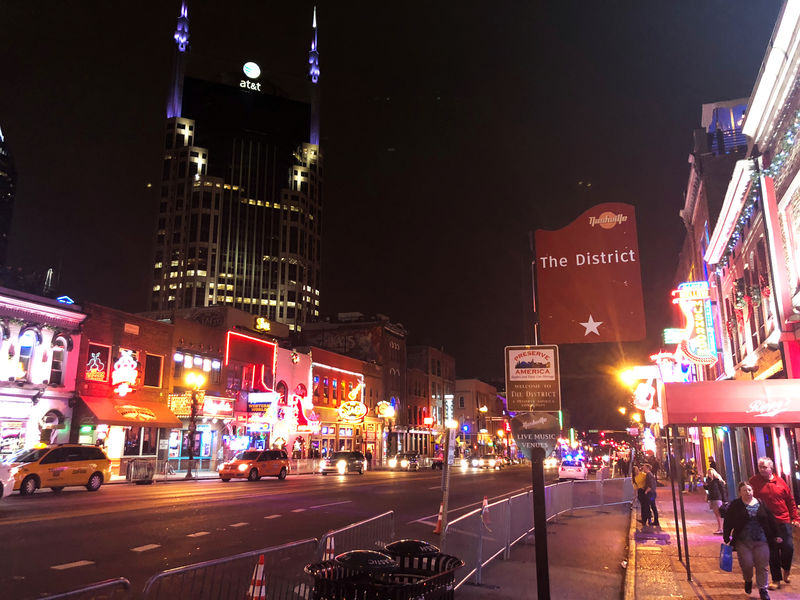 © Reuters. The downtown district is pictured in Nashville
