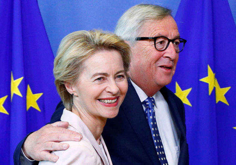 EU's outgoing chief executive welcomes 'true European' von der Leyen By Reuters