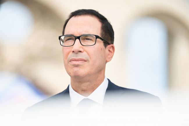 © Bloomberg. Steven Mnuchin in Chantilly on July 18.