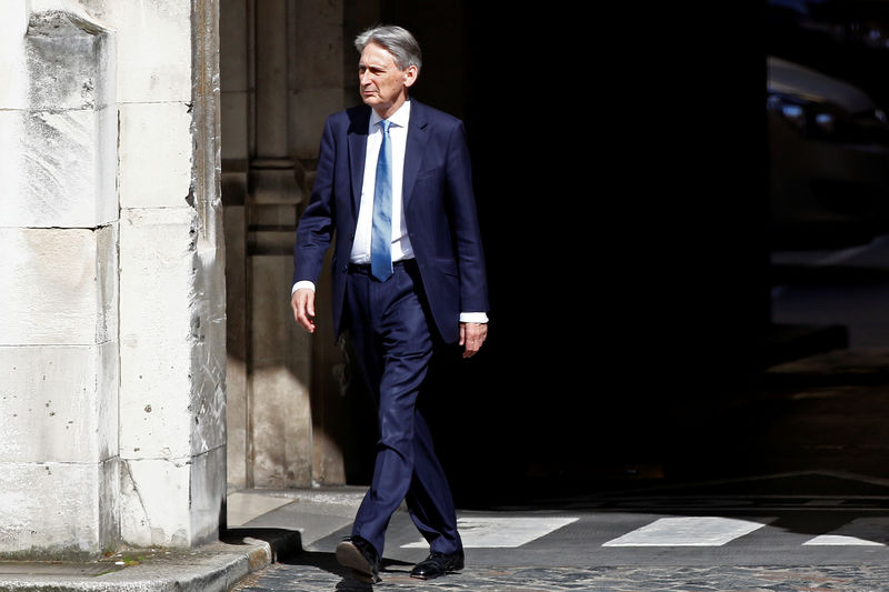 UK's Hammond attacks 'terrifying' views of Brexiteer Rees-Mogg By Reuters