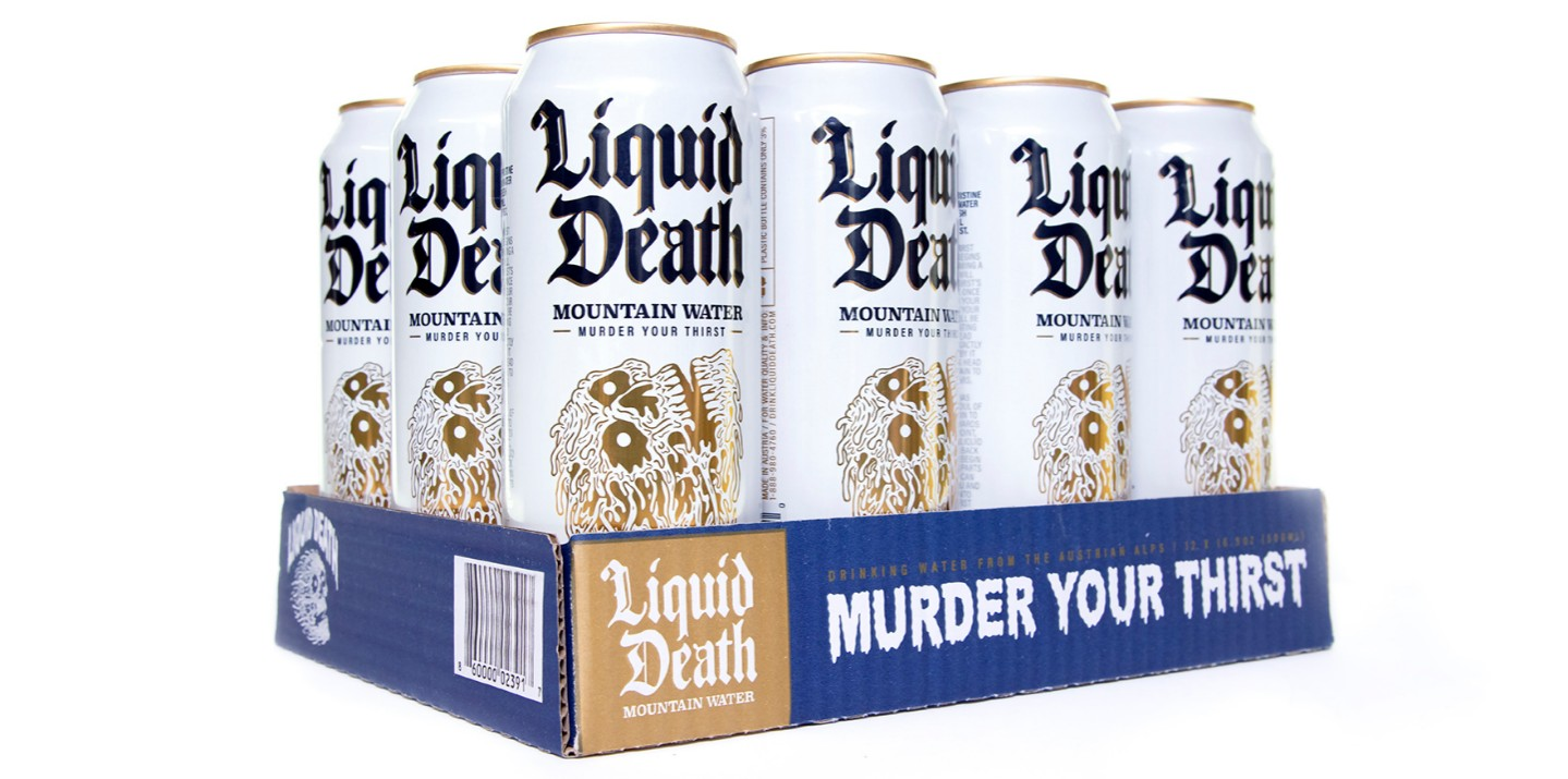 Water brand Liquid Death is now testing physical retail