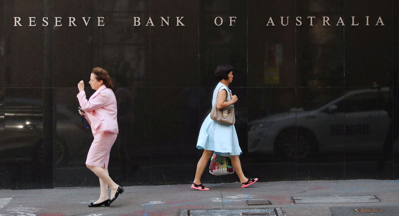 Australia central bank sees near-term risks, assumes rates will be cut again as market expects By Reuters