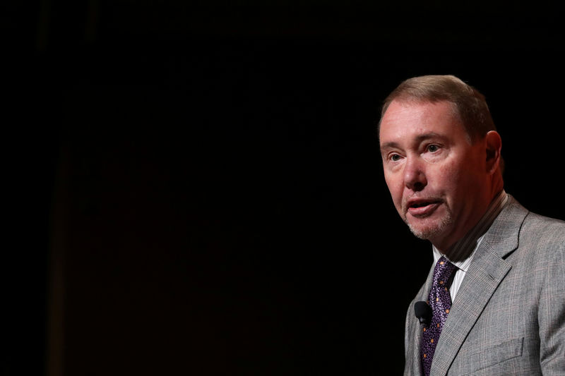 © Reuters. Jeffrey Gundlach,CEO of DoubleLine Capital LP, presents during the 2019 Sohn Investment Conference in New York