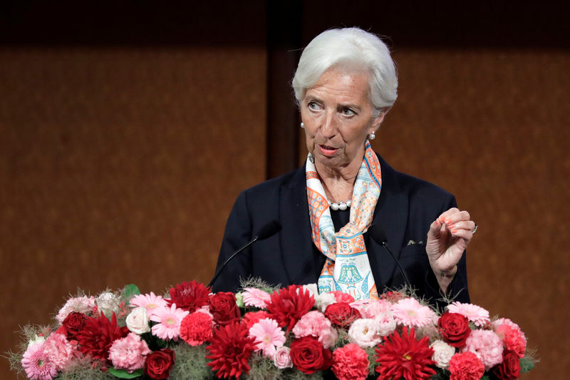 © Reuters. Christine Lagarde, managing director of the International Monetary Fund (IMF), speaks at the Group of 20 (G-20) high-level seminar on financial innovation