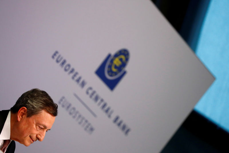 © Reuters. FILE PHOTO: Mario Draghi, President of the European Central Bank (ECB) holds a news conference on the outcome of the Governing Council meeting at the ECB headquarters in Frankfurt
