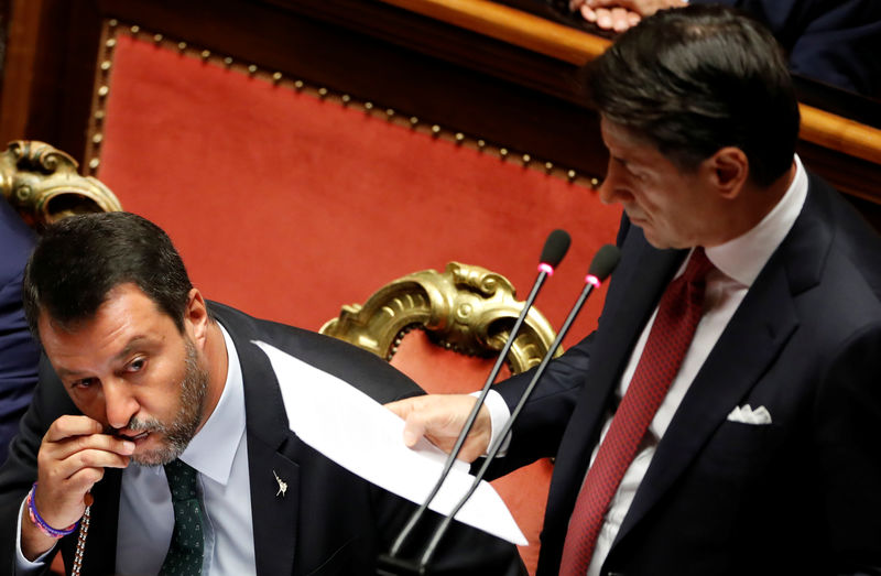 Italian PM Conte denounces Salvini for toppling government By Reuters