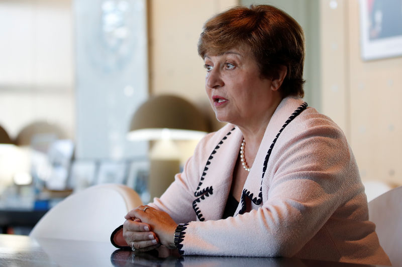 Georgieva closes in on top IMF job as no challengers seen: sources By Reuters
