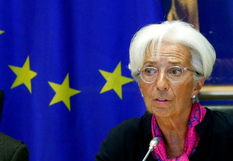 © Reuters. FILE PHOTO: Lagarde, the next president of the European Central Bank, speaks to the EU Parliament