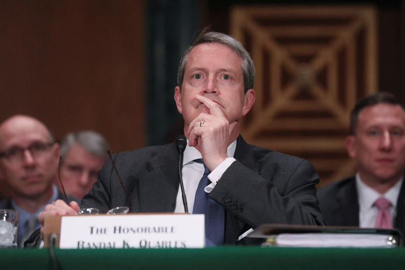 U.S. Fed to further simplify 'stress capital buffer' plan: Quarles By Reuters