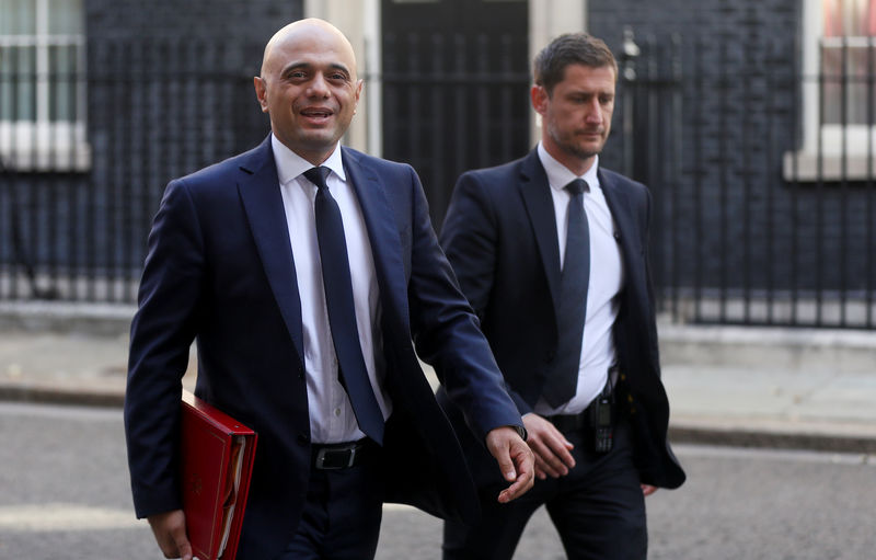 UK's Javid says finance sector is top priority as Brexit nears: source By Reuters
