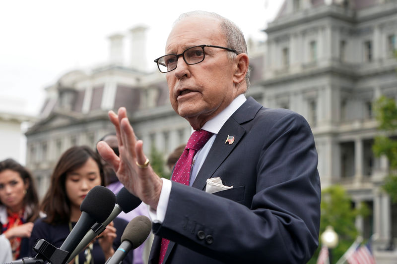 © Reuters. Director of the National Economic Council Larry Kudlow speaks to the media at the White House in Washington