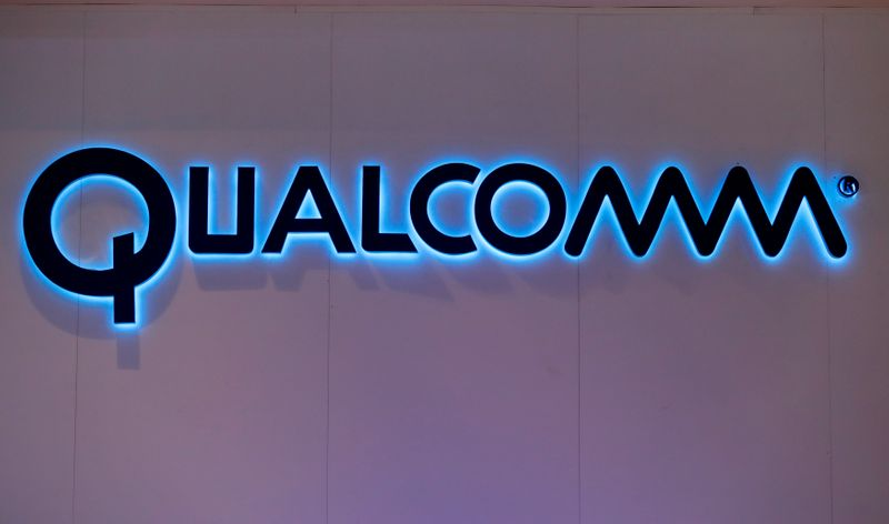 © Reuters. Qualcomm's logo is seen during Mobile World Congress in Barcelona