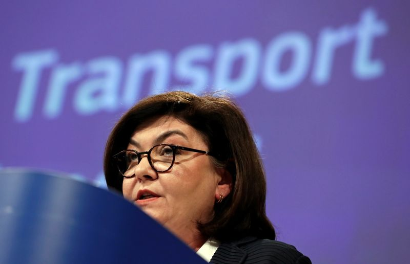 © Reuters. News conference on tourism and transport at European Commission in Brussels