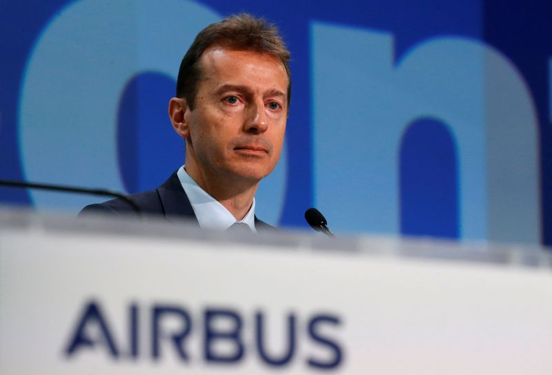 © Reuters. Airbus's annual press conference on Full-Year 2019 results in Blagnac