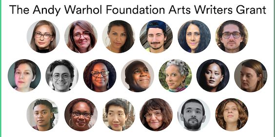 Andy Warhol Foundation Arts Writers Grant Announces 2020 Grantees