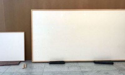 """Danish Artist, Protesting """"Miserable Working Conditions,"""" Hands In Blank Canvases for $84K"""